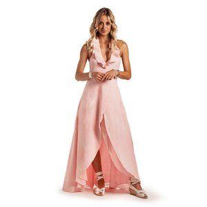 Island Company Ambrosia Dress in Pink Sorbet Linen